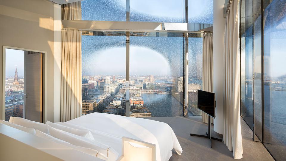 The Westin Hamburg owners suite bedroom