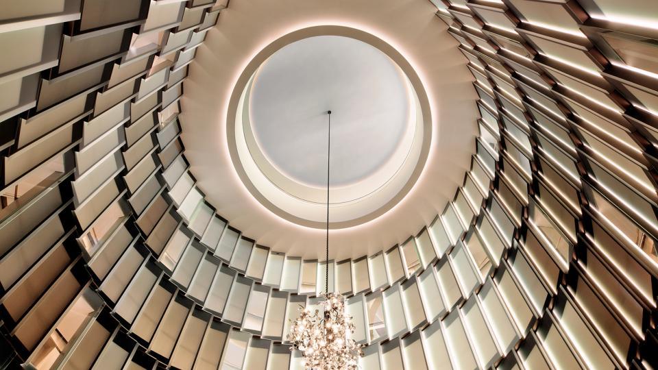 The fontenay atrium lounge blick nach oben
